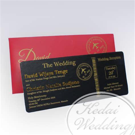 Undangan Ultah Tema Tiket Pesawat undangan pernikahan model boarding pass undangan pernikahan
