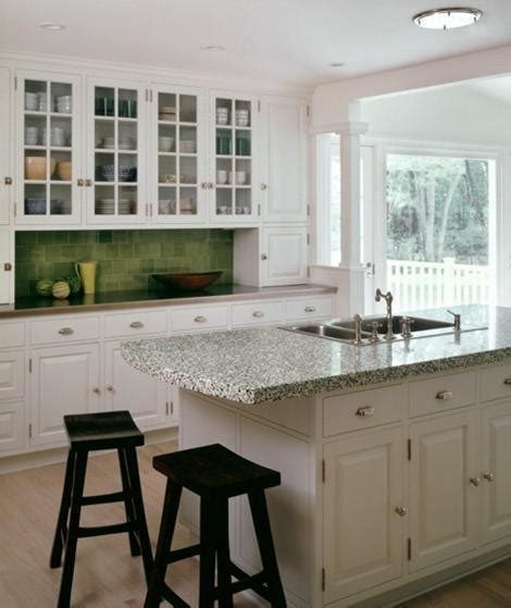 green traditional backsplash tile kitchen clan