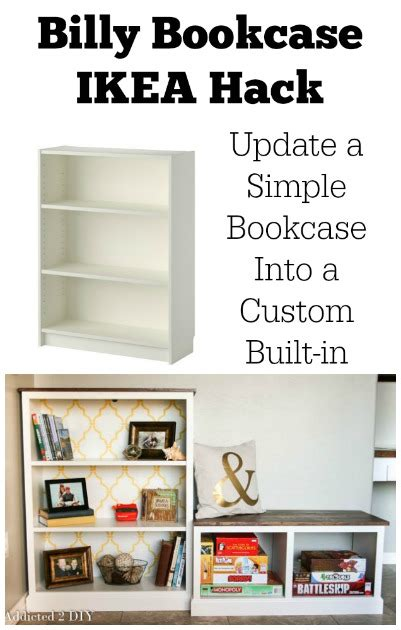 billy bookcase ikea hack update a simple bookcase into a