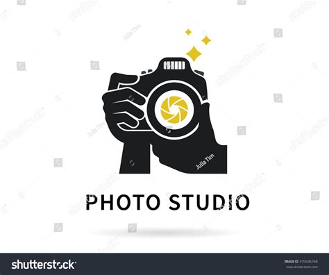 photographer vector photographer with icon or logo transparent template flat illustration of lens