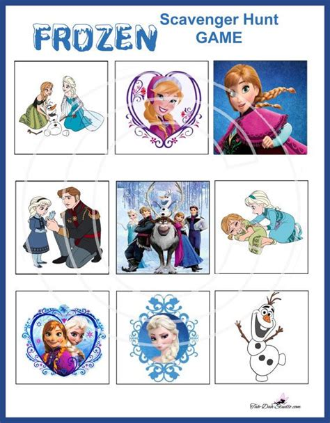 printable frozen scavenger hunt pinterest discover and save creative ideas