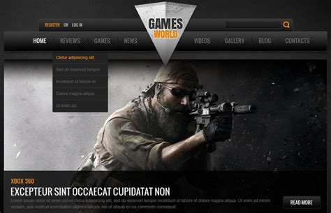website templates for gaming clans gaming html5 templates free premium themes creative