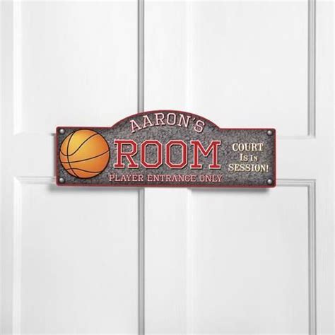 boy decor sports basketball room personalized