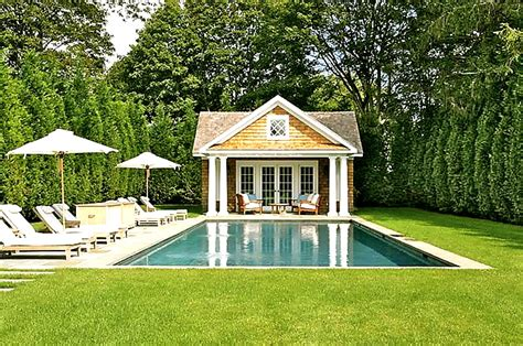 simple pool house perfect southton home home bunch interior design ideas
