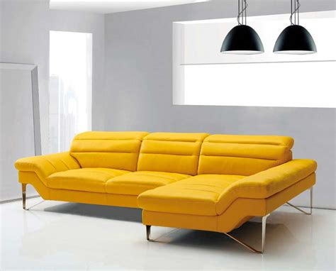 Modern Yellow Sectional Sofa Vg 4 Leather Sectionals Modern Leather Sofa Sectional