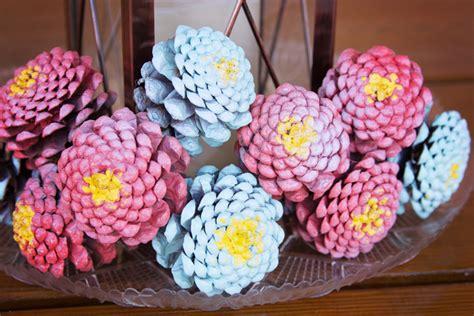 how to make pine cone flowers flower power pinterest valu home centers diy pine cone zinnia flowers valu home