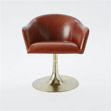 Ab Swivel Chair by Bond Leather Swivel Office Chair West Elm