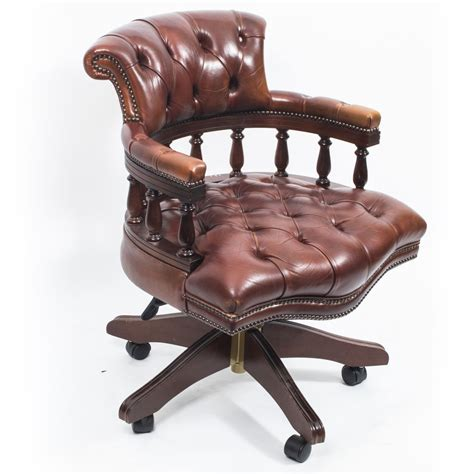 english armchair english hand made leather captains desk chair desirable desks