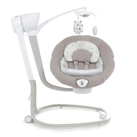 swivel swing joie serina swivel ned swing musical vibrating baby