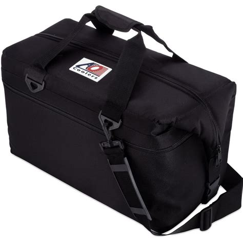 ao pocket ao coolers 42 qt canvas cooler with shoulder and wide outside pocket ao36bk the home depot
