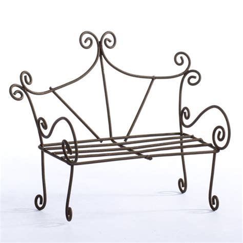 wire bench rustic miniature wire bench doll accessories doll