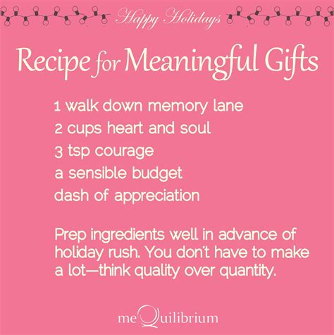 recipes gifts recipe for meaningful gifts mequilibrium