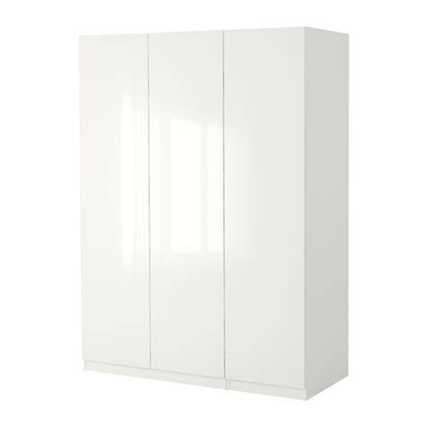 High Gloss White Wardrobe by Pax Wardrobe White Fardal High Gloss White 150x60x236 Cm