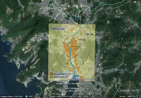 nagasaki map project of the atomic bomb s