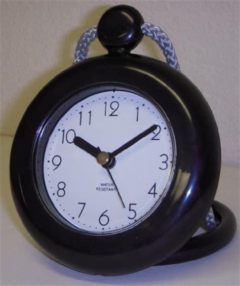 shower clock rope clock water resistant black quartz