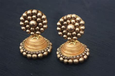 Jhumkas With Paper - jewelry around the world day 1 indian jhumka diy earrings