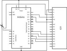 lcd display arduino controlling