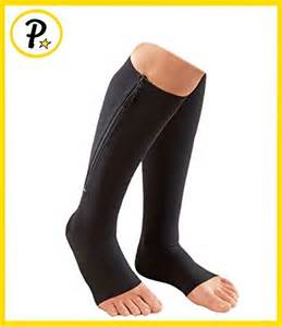 Zipper compression socks circulation swelling veins support fda