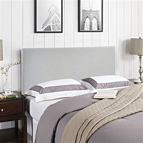 modway region upholstered linen queen headboard size