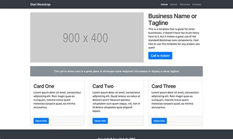 free bootstrap templates for it company small business bootstrap marketing website template