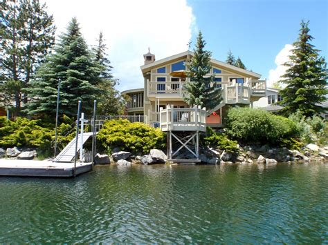 boat house lake tahoe 3750 sq ft waterfront home boat dock homeaway