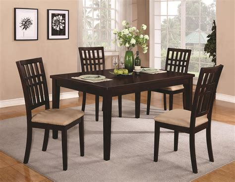Brandt Dark Cherry Wood Dining Table Decobizz Com Dining Room Tables Images