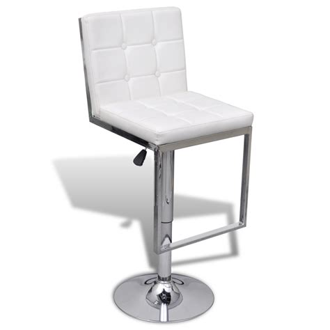 leather swivel bar stools with back white 2 adjustable swivel bar stools faux leather high