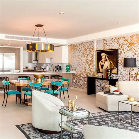 home interiors design plaza panama calico wallpaper featured in the model unit for bahia plaza at paseo caribe interior design by