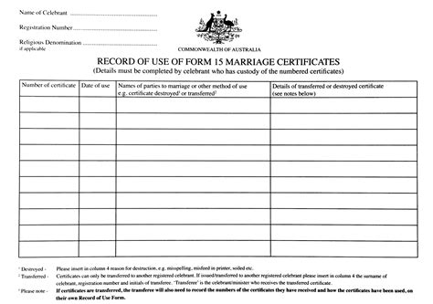 design certificate form 15 marriage certificate template australia images