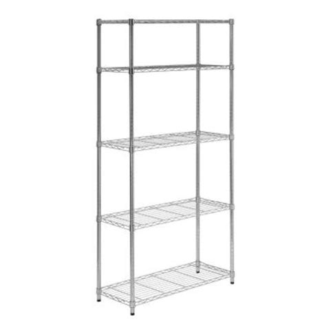 honey can do 5 shelf 36 in w x 72 in h x 14 in d steel