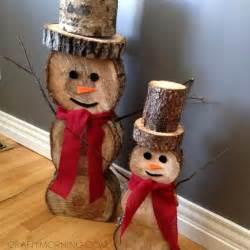 snowman decorations log snowmen decorations for winter crafty morning