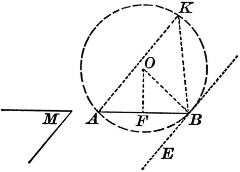 construction to describe a segment of a circle in which an