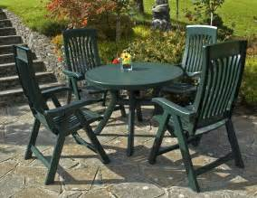 Plastic Patio Table And Chairs Nardi Toscana Green 1m Resin Patio Set With Flora Recliners