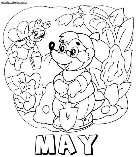 Download Coloring Pages May Coloring Pages May Holiday May Coloring Pages