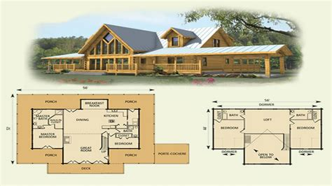 log cabin with loft floor plans