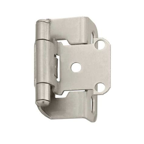 wrap cabinet hinges amerock partial wrap 1 2 quot overlay hinge satin nickel per