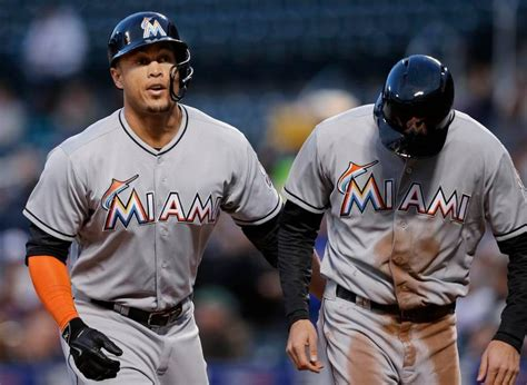 giancarlo stanton marlins jpg giancarlo takes homer record but many records remain for