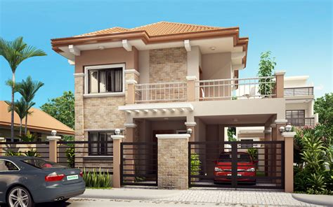simple double storey house design double storey houses plans escortsea