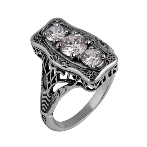 replica fashion wholesale sterling silver ring border