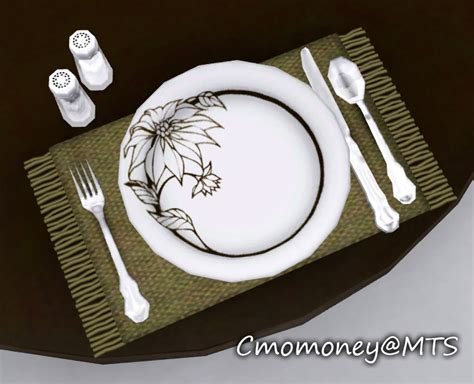 Dining Room Table Set Mod The Sims Updated Dining Table Clutter