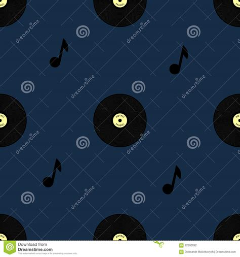vinyl pattern background old vinyl record seamless pattern stock vector image