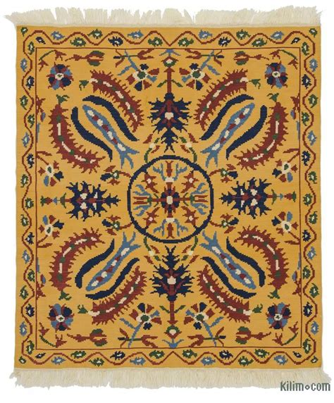 kilim rugs k0021068 yellow new turkish kilim rug