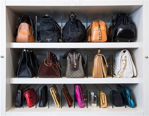 Handbag Closet Storage by Arrangement Park A Purse Closet Organizer With 10 Cubbies Roselawnlutheran