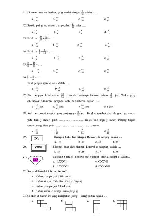 soal soal ips kelas 6 ujian sekolah soal ukk matematika untuk kelas 1 soal ukk matematika kelas 4