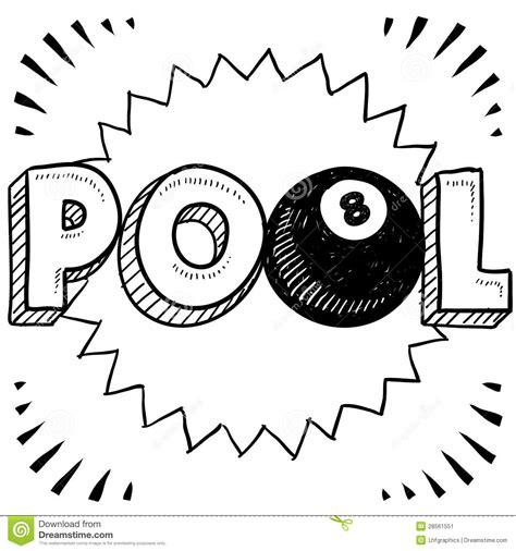 doodle less pool musicas pool billiards sketch stock image image 28561551