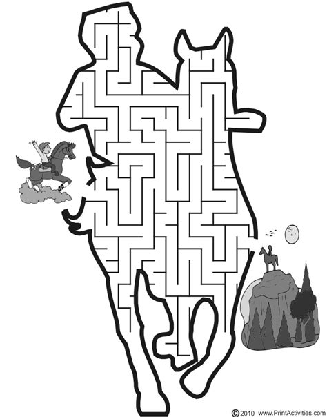 printable horse maze printable mazes for kids under 5 rice n three