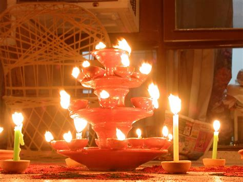 decorative lights for diwali at home plastic paper scraps and metal wastes turn into