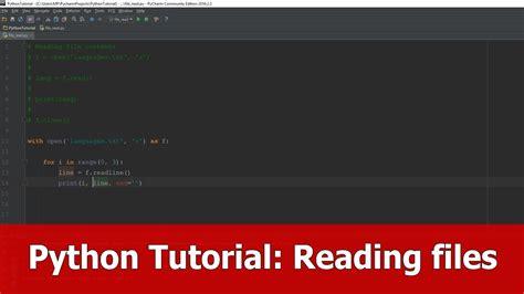 python online tutorial youtube python tutorial reading files youtube