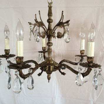 chandeliers brass best vintage brass chandelier products on wanelo