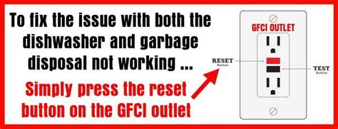 ip2772 resetter not responding reset the gfci outlet if dishwasher and garbage disposal